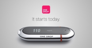 The One Drop | Chrome Blood Glucose Monitor (PRNewsFoto/One Drop)