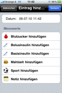 iphone app diabetes plus blutzucker